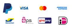 Paiement par Paypal, Visa, Mastercard